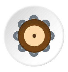 Tambourine icon circle vector