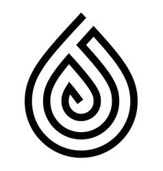 Water drop symbol black sign for logo vector