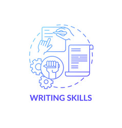Writing skills concept icon vector