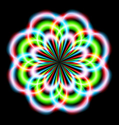 Abstract rainbow ray in the shape of a flower vector