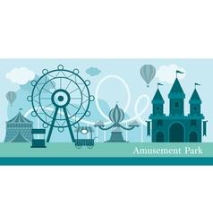 Amusement Park Mono Color vector image