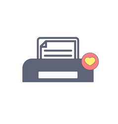 document favorites paper print printer icon vector image