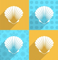 Scallop seashell icon vector image vector image