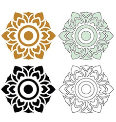 Thai pattern floral 03 vector image