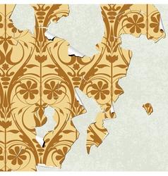 vintage wallpaper torn vector image
