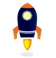 Cartoon Rocket ship vector image vector image