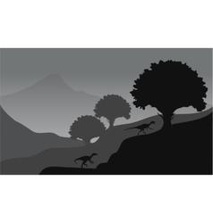 eoraptor in hills scenery vector image vector image