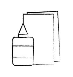 figure glue and cardboard scchool utensils to vector image vector image