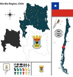Map of Bio Bio vector image vector image