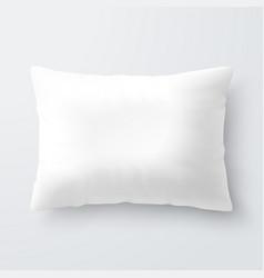 blank white rectangular pillow cushion vector image