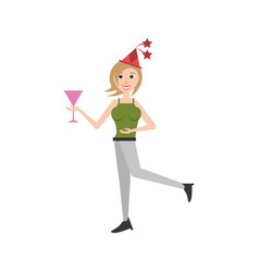 cheerful woman party celebration vector image vector image