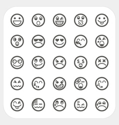 Emotion face icons set vector image