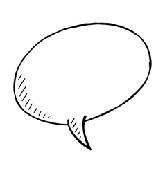 Hand drawn speech bubble doodle isolated vector image