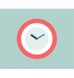Red Clock icon isolated Watch objects or vector image