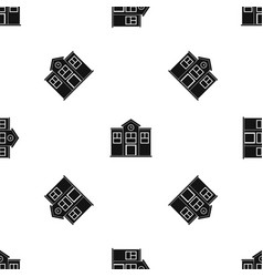 school pattern seamless black vector image vector image