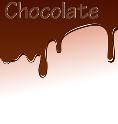 background with chocolate streaks vector image vector image