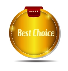 best choice label with red ribbon vector image vector image