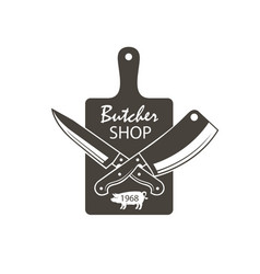 butcher shop emblem vector image