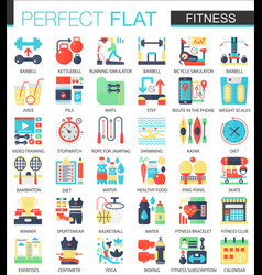 fitness and sport complex flat icon concept vector image vector image
