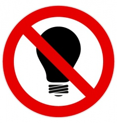 no light bulb sign vector image vector image