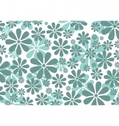 retro daisy pattern vector image vector image