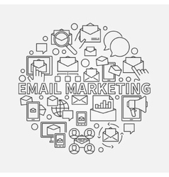 Round email marketing vector image
