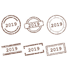 2019 stamps vector