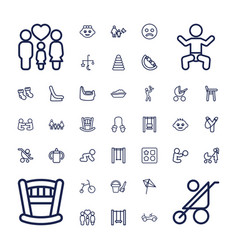 37 kid icons vector