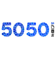 50 digits text composition icon circles vector