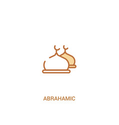 Abrahamic concept 2 colored icon simple line vector