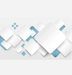 abstract white and soft blue square background vector image