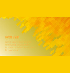 abstraction with yellow rectangles and header vector image