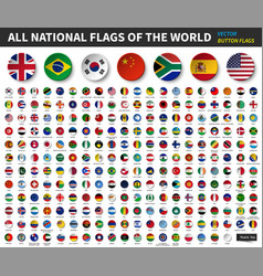 all national flags of the world circle concave vector image
