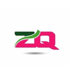 Alphabet z and q letter logo vector