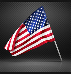 American banner wavy flying flag usa flag vector