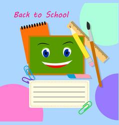 Back to school banner design education vector