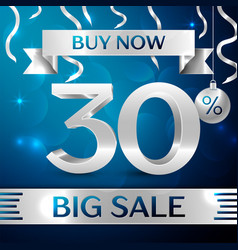 big sale buy now thirty percent for discount vector image