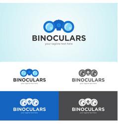 Binoculars logo design vector