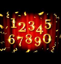 birthday golden numbers vector image