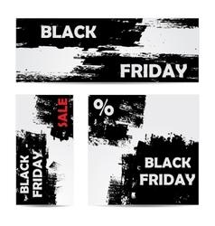 Black friday set vector