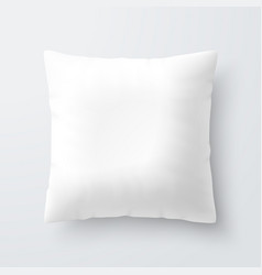 blank white square pillow cushion vector image