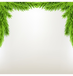 Border xmas frame with fir Green Christmas winter vector image