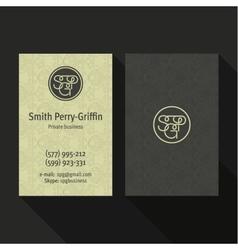 Business card qualitative elegant logo vector