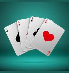 casino gambling poker blackjack concept vector image
