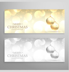 christmas festival banners or headers set vector image