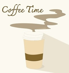 coffee timeflat icon vector image