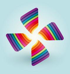color fan blades vector image