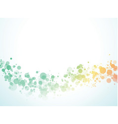 color wave bubbles background vector image