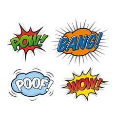 Comic speech bubbles 02 vector image