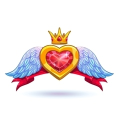 Cool ruby heart vector image